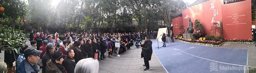 唐韵承微•唐昌虎书法作品展在四川杜甫草堂开幕