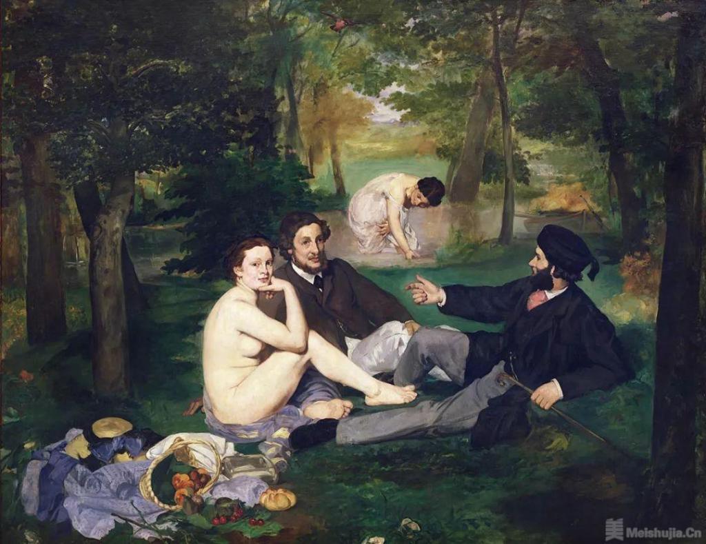 爱德华 • 马奈《草地上的午餐》